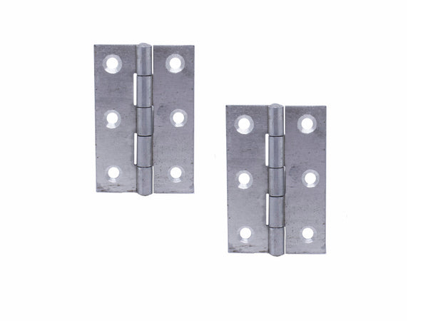 Butt Hinge H65 x W45 x T1.5mm Self Colour Steel
