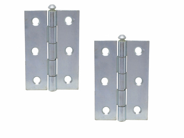 Loose Pin Steel Butt Hinge H75 x W50 x T1.5mm Chrome Plated - Eurofit Direct