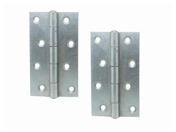 5050 Narrow Steel Butt Hinge H100 x W58 x T2 Self Colour - Eurofit Direct