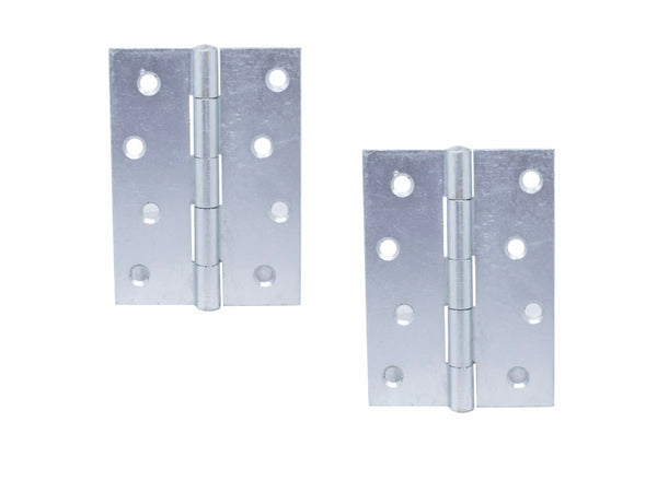 Narrow Butt Hinge (5050) H125 x W65 x T2mm Self Colour Steel