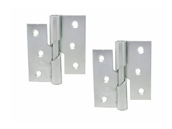 Rising Butt Hinge H75 x W75 x T2mm Left Handed Zinc Plated Steel