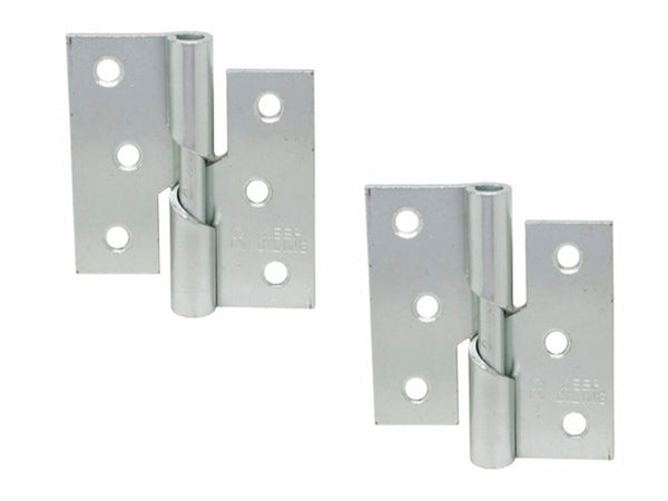 Rising Butt Hinge H75 x W75 x T2mm Right Handed Zinc Plated Steel