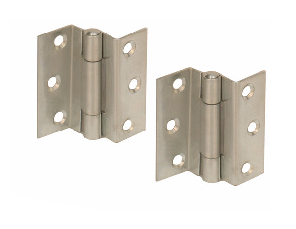 Stormproof Steel Hinge H63 Zinc Plated - Eurofit Direct