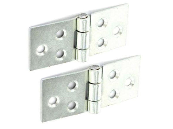 Backflap Steel Hinge H50 x W105 x T1.5mm Zinc Plated