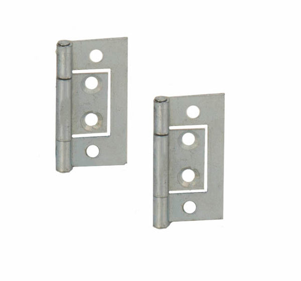 Steel Flush Hinge H40 x W20 x T1mm Zinc Plated - Eurofit Direct
