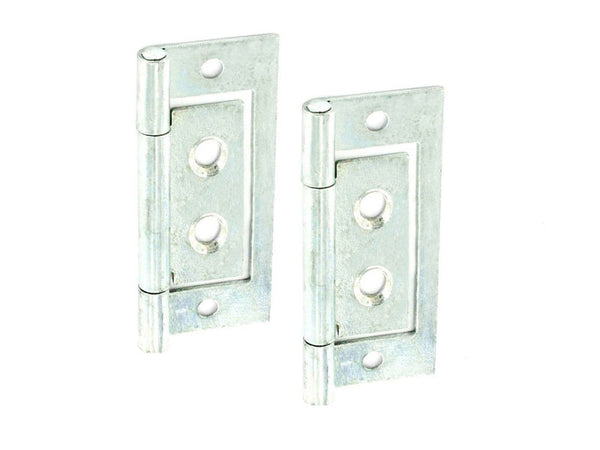 Flush Hinge H50 x W25 x T1mm Zinc Plated Steel