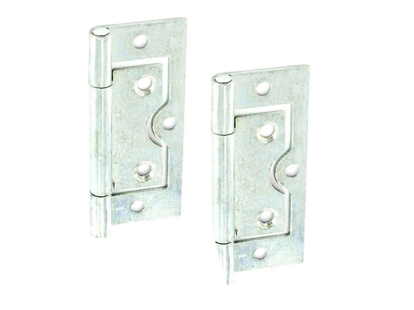 Flush Hinge H60 x W25 x T1mm Zinc Plated Steel
