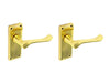 Victorian Scroll Latch Handles - Brass