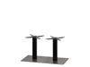Mega Brushed S/Steel Base & Black Column 750 x 400 x H450mm