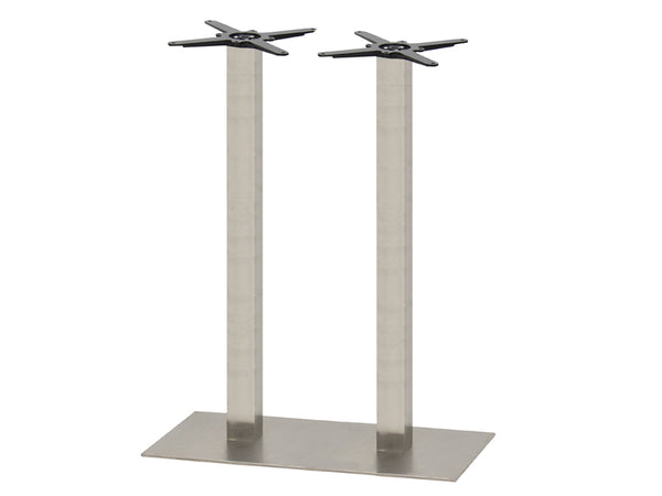 Mega Brushed S/Steel Base & Column 750 x 450 x H1100mm