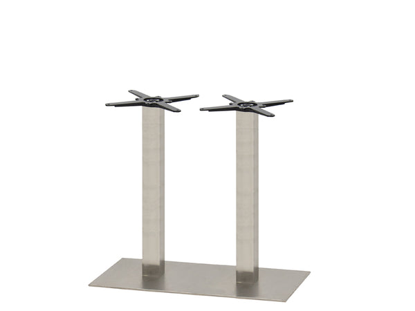 Mega Brushed S/Steel Base & Column 750 x 450 x H690mm