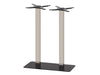 Mega Black Base & Brushed S/Steel Column 750 x 400 x H1100mm