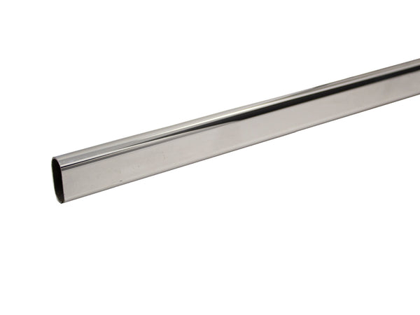 Wardrobe Rail Oval 30 x 15 x 2400mm Chrome Plated