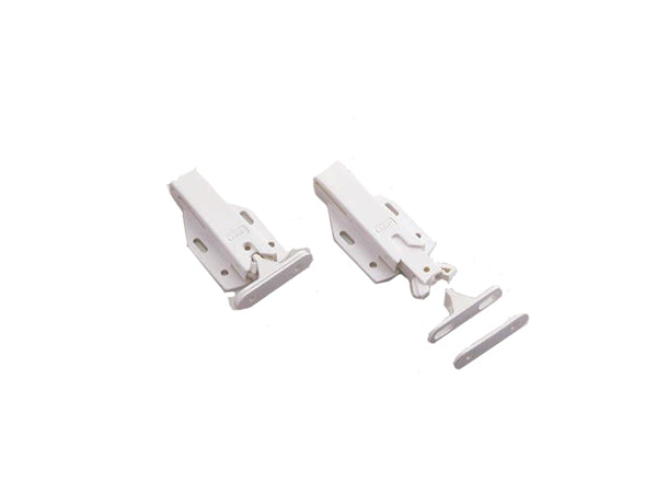 Lamp Long Stroke Plastic Non-Magnetic Touch Latch - Retaining Force 6kgs - White