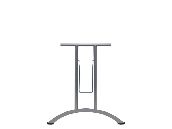 Folding Table Frame 690 x 590mm Curved Foot Silver 9006