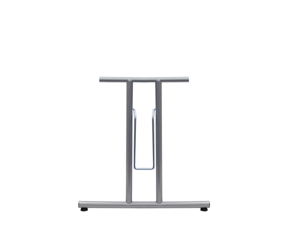 Folding Table Frame 690 x 590mm Straight Foot Silver 9006