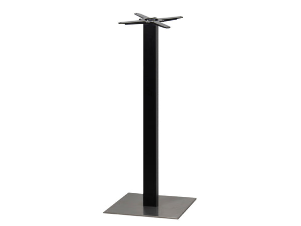 Sotra Brushed S/Steel Base & Black Column S450 x H1100mm - Eurofit Direct
