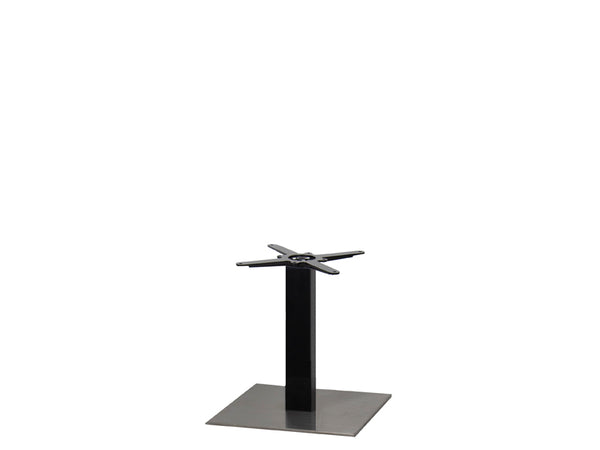 Sotra Brushed S/Steel Base & Black Column S450 x H450mm