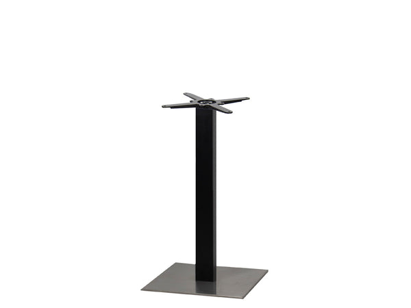 Sotra Brushed S/Steel Base & Black Column S450 x H690mm