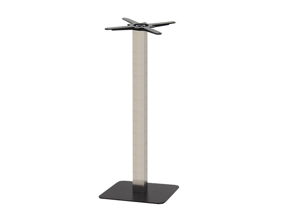 Sotra Black Base & Brushed S/Steel Column S450 x H1100mm