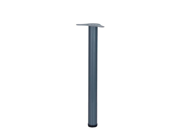 Eurofit Table Legs - Dia 60mm x H690mm - Dark Grey
