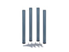 Table Legs 60 x 690mm With 30mm Adjustment - Dark Grey 9031