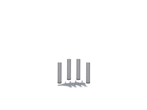 Table Legs 60 x 375mm With 30mm Adjustment - Silver 9006