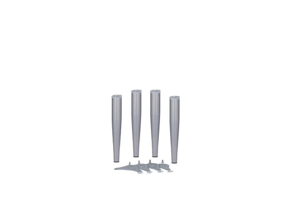 Table Legs Conical 50-32 x 410mm 10mm Adjustment Silver 9006