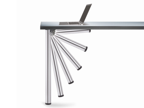 Click Folding Table Leg 50 x 705mm With 30mm Adjustment - Chrome Plated