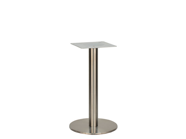 Small Stainless Steel D400mm Flat Base Dining Height 690mm