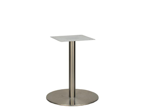 Large Stainless Steel D600mm Flat Base Dining Height 690mm