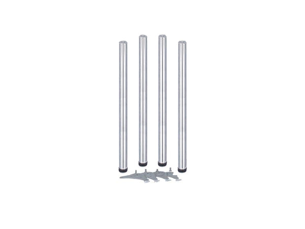 Eurofit Table Legs - Dia 60mm x H1100mm - Chrome
