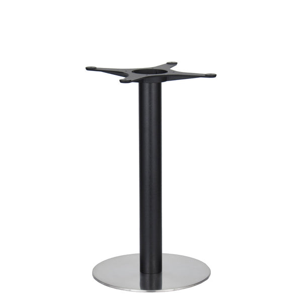 Golden Gate Brushed S/Steel Base & Black Column D400xH650mm - Eurofit Direct