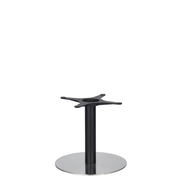 Eurofit Golden Gate S/Steel Base & Black Column - Diameter = 500mm - Height = 450mm