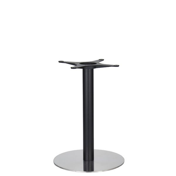 Golden Gate Brushed S/Steel Base & Black Column D500xH690mm