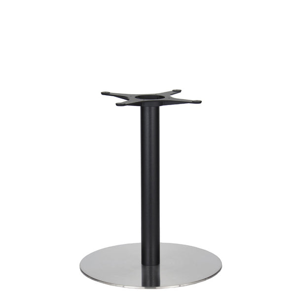 Golden Gate Brushed S/Steel Base & Black Column D580xH690mm