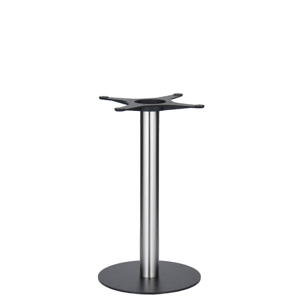 Golden Gate Black Base & Brushed S/Steel Column D400xH690mm