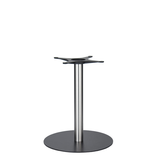 Golden Gate Black Base & Brushed S/Steel Column D580xH690mm