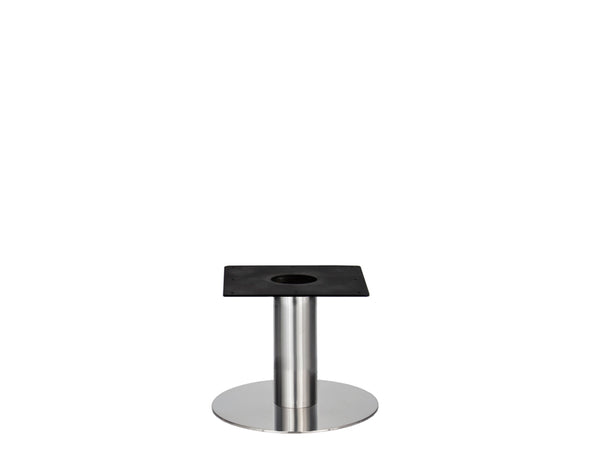 IntAfit Table Base For Integrated Cable Management Brushed S/Steel Base & Column - D500 x H450