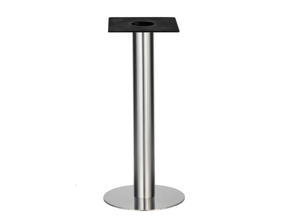 IntAfit Table Base For Integrated Cable Management Brushed S/Steel Base & Column - D500 x H1100