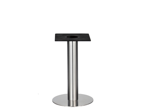 IntAfit Table Base For Integrated Cable Management Brushed S/Steel Base & Column - D500 x H690