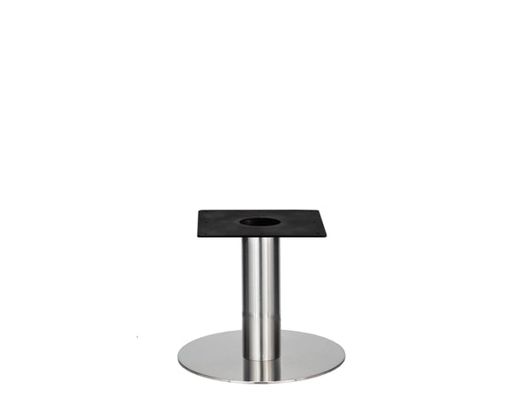 IntAfit Table Base For Integrated Cable Management Brushed S/Steel Base & Column - D580 x H450