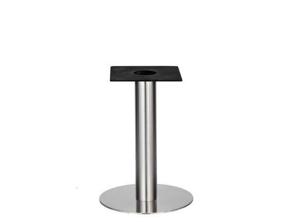 IntAfit Table Base For Integrated Cable Management Brushed S/Steel Base & Column - D580 x H690