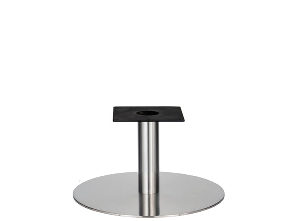IntAfit Table Base For Integrated Cable Management Brushed S/Steel Base & Column - D720 x H450