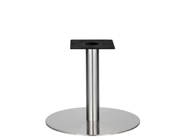 IntAfit Table Base For Integrated Cable Management Brushed S/Steel Base & Column - D720 x H690