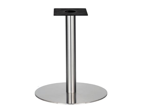 IntAfit Table Base For Integrated Cable Management Brushed S/Steel Base & Column - D720 x H1100