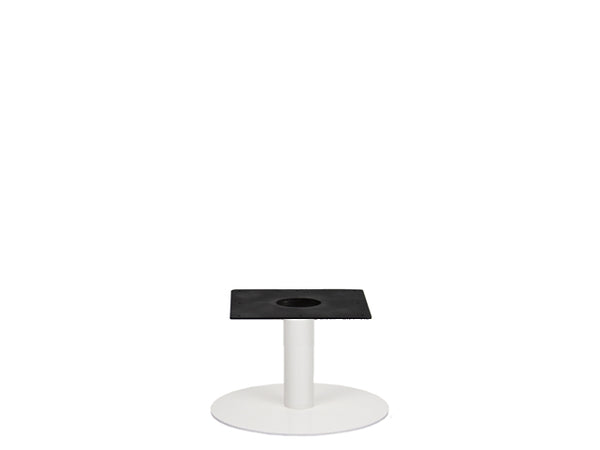 IntAfit Table Base For Integrated Cable Management White Base & Column - D500 x H450