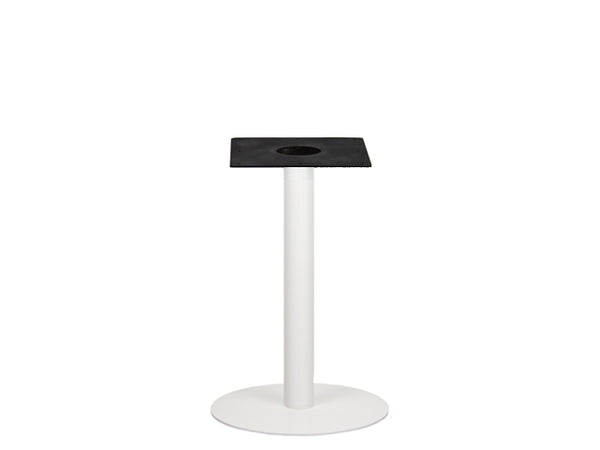 IntAfit Table Base For Integrated Cable Management White Base & Column - D500 x H690