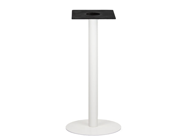 IntAfit Table Base For Integrated Cable Management White Base & Column - D500 x H1100