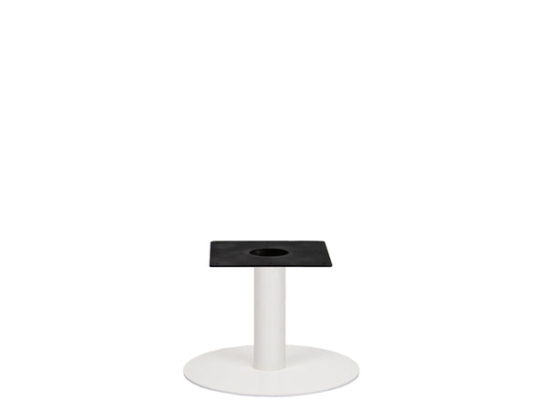 IntAfit Table Base For Integrated Cable Management White Base & Column - D580 x H450